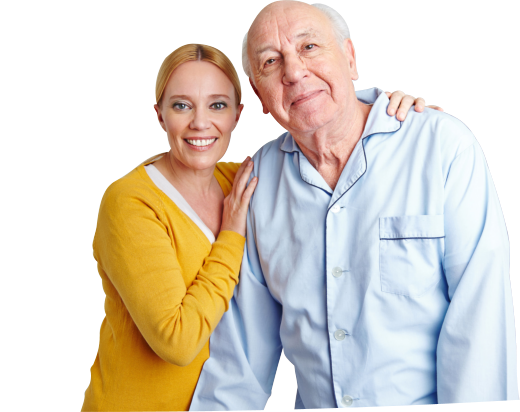 caregiver and an old man